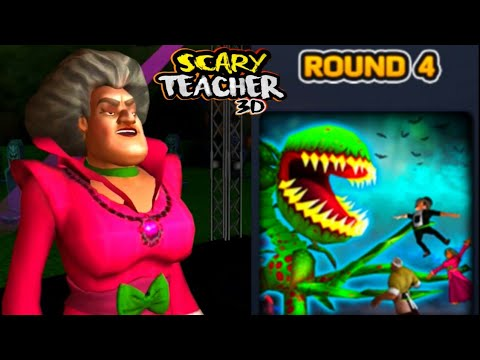 SCARY TEACHER 3D- ROUND 4 + Competition Time -Halloween Update | New Level Unlocked -Gameplay