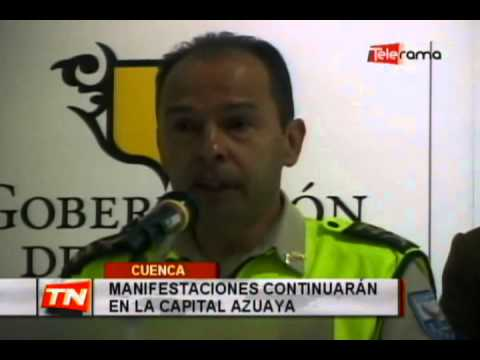 Manifestaciones continuarán en la capital azuaya