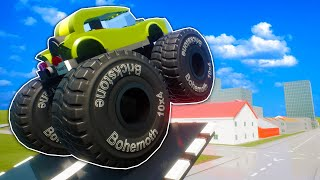 We Attempted to Jump Lego City with Monster Trucks in Brick Rigs Multiplayer!