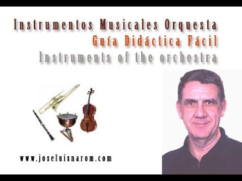 Instrumentos Musicales Orquesta - Guía Didáctica Fácil - Instruments ...