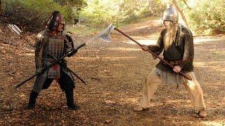 Ninja vs Viking - EPIC FIGHT!!!   Schnitzelwirt