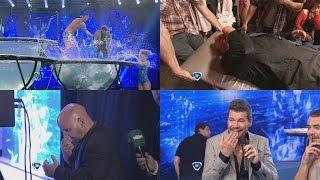 Showmatch 2014 - Tinelli tiró a Navarrete al agua y el productor terminó sangrando thumbnail
