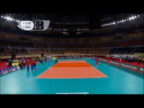 CUB vs BRA 2017 FIVB Men's U23 World Championship