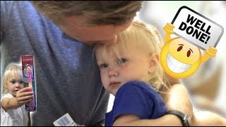 GETTING A 2 YEAR OLD TO SIT AT THE DENTIST! (Not advice!)
