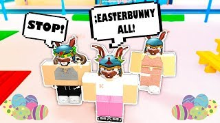 TURNING EVERYONE INTO THE EASTER BUNNY // Roblox Admin Command Trolling // Roblox Funny Moments
