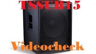 Videocheck zum Alto 15 Zoll Aktivsubwoofer [TSSUB15] (HD)
