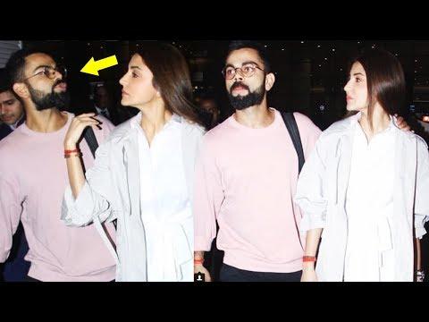 Virat Kohli Adorable Kisses Anushka Sharma At Airport, What  Happens Next Will Melt Your Heart