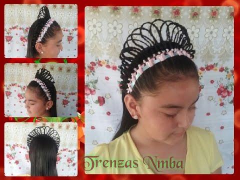 Peinado en corona y encintado oreja de conejo peinados - Peinados de nina ...
