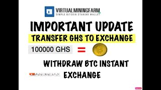 VIRTUAL MINING FARM UPDATE / TRANSFER YOUR GHS NOW TO EXCHANGE / 15 MARCH LAST DATE