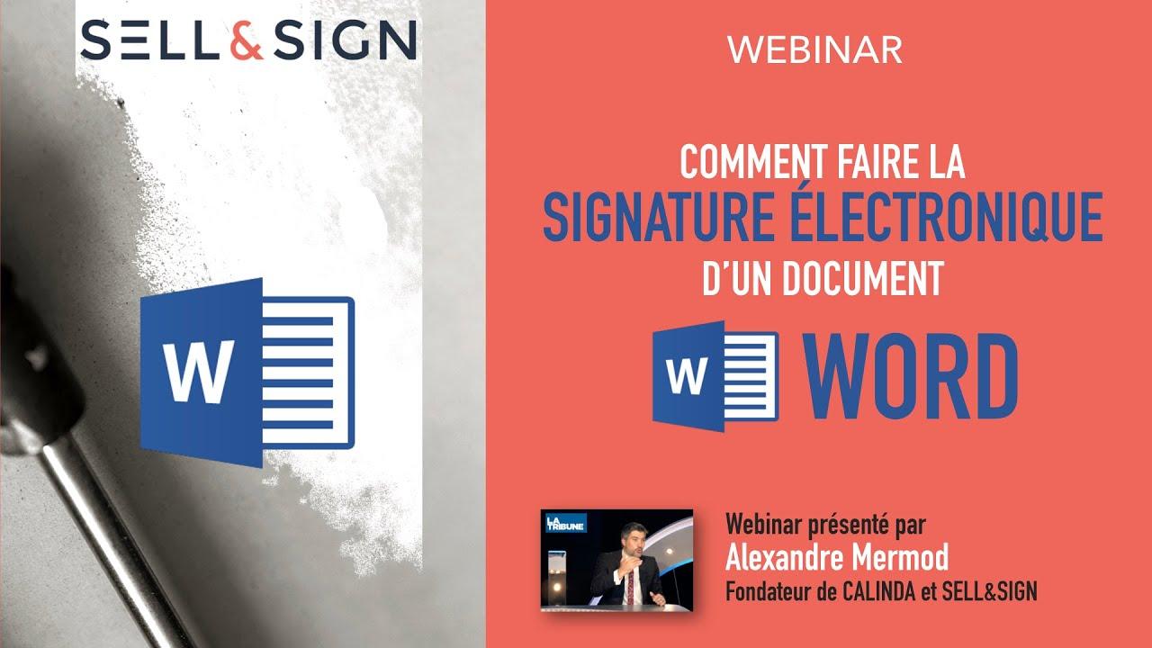 Comment Faire La Signature Electronique D Un Document Word Youtube