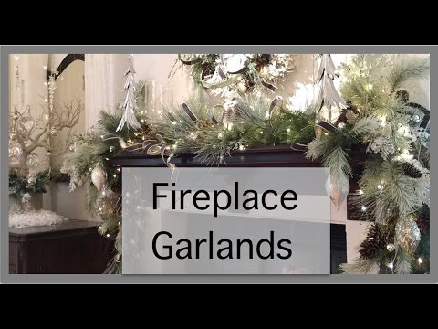 christmas decorations fireplace garland - Fireplace Christmas Decorations