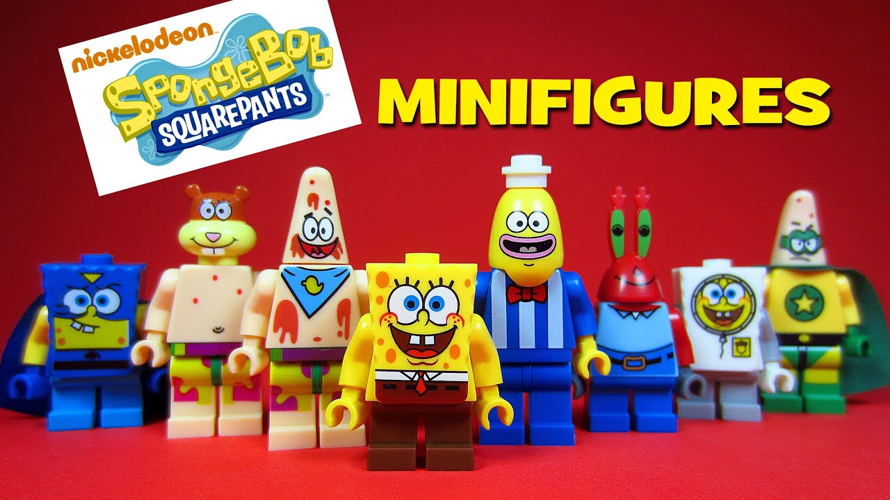 Lego Spongebob Squarepants Knockoff Minifigures Set 1