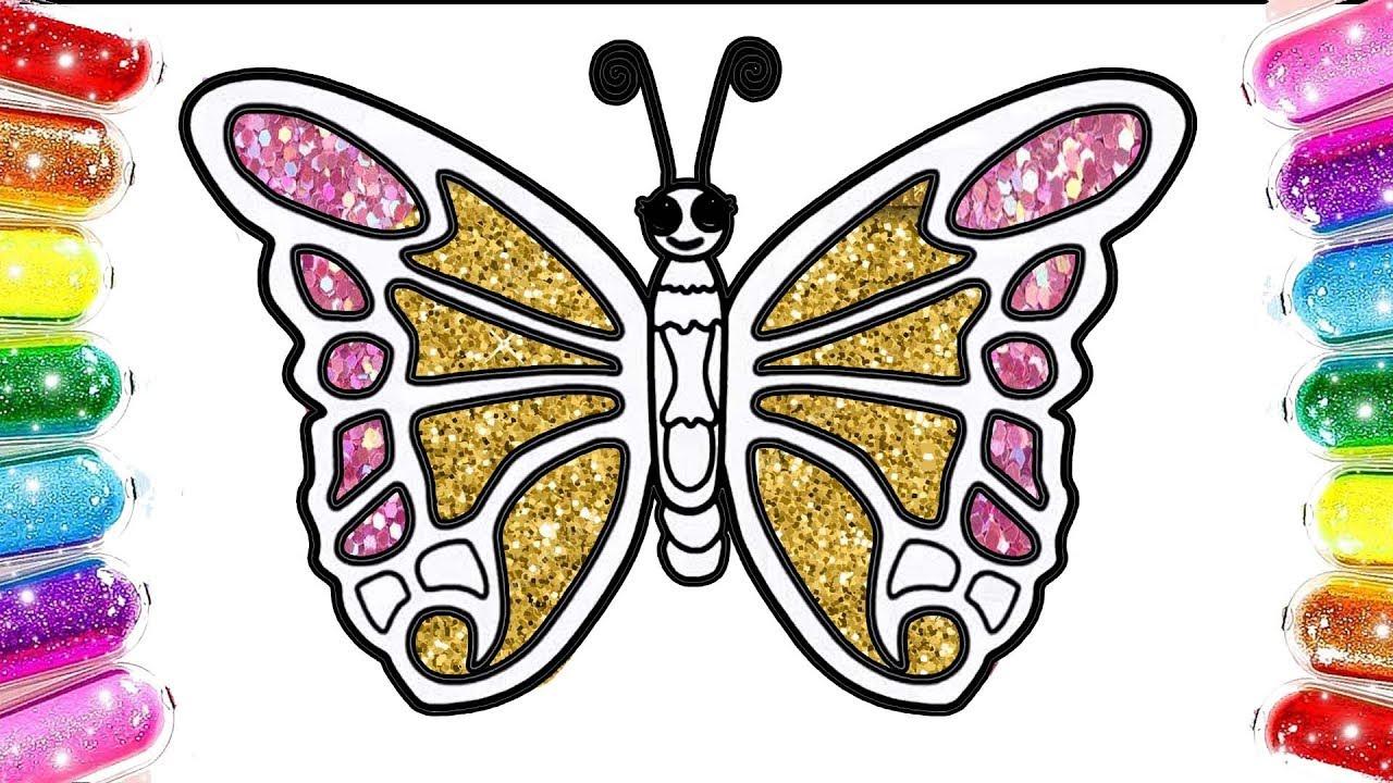 Kelebek Boyama Renkleri Ogreniyorm Cocuklar Icin Boyama Youtube