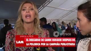Cande Ruggeri hablo sobre la campaña con Rodrigo Noya y le respondió a Laurita Fernández