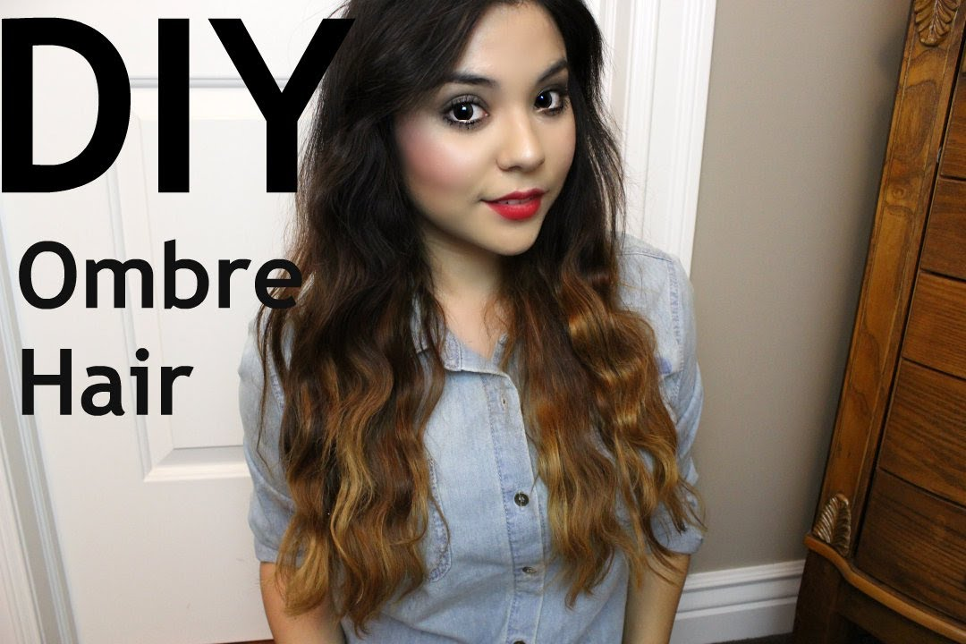 Diy Ombre Hair For Dark Hair Youtube