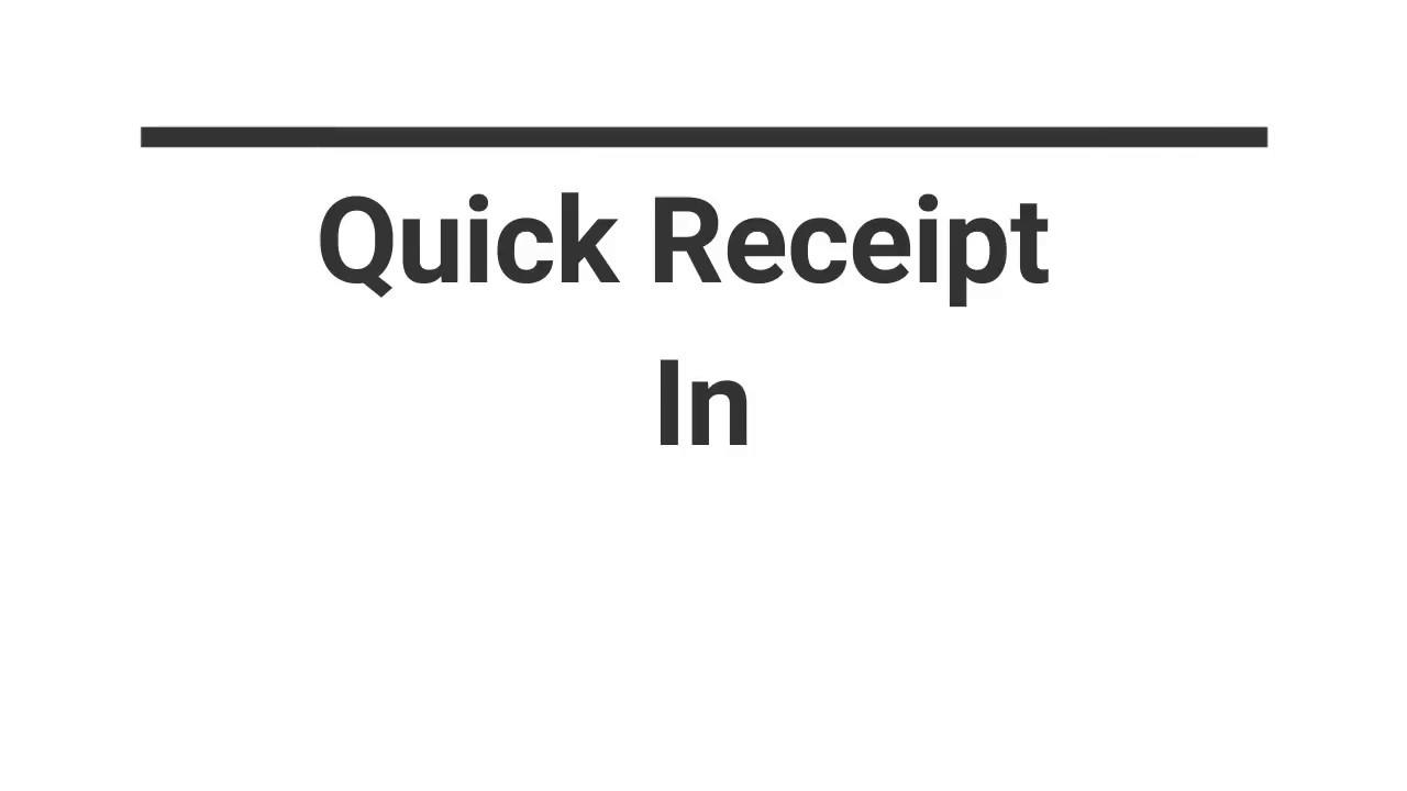 quick receipt in easy erp 360 youtube