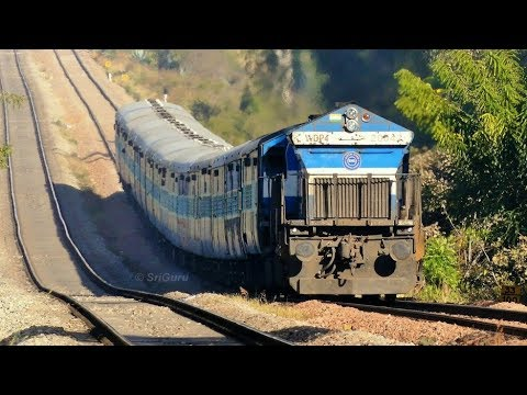 Trains tackling Huge Gradients of Bhairanayakanahalli - 10 in 1 Compilation | Indian Railways [4K]