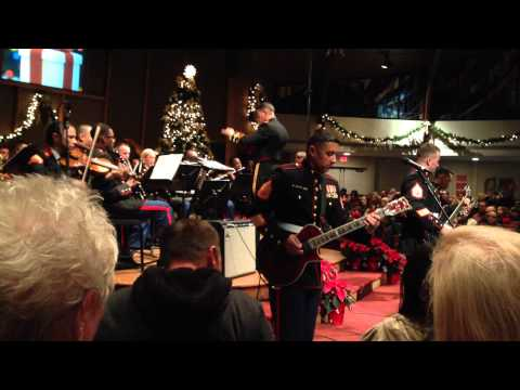 3d Marine Aircraft Wing Band @ FHPC for Christmas 2