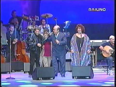 Nino D'Angelo con Lucio Dalla e Brunella Selo in Senza giacca e cravatta Live con orchestra