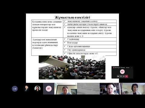 Онлайн-защита диссертации на соискание степени доктора философии PhD  Кантуреевой М.