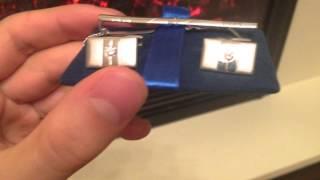 видео Запонки и зажимы для галстука из серебра