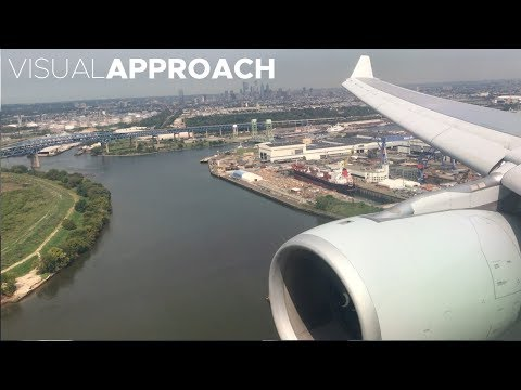 American Airlines Airbus A330-200 landing at Philadelphia Airport