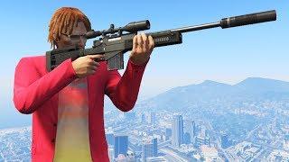 【DE JuN】GTA 5 - 狙擊手 VS 跑酷高手 ( 歡樂時刻 )