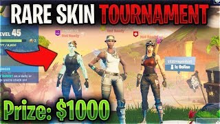So I Challenged the RAREST Skins to a Fortnite Tournament...