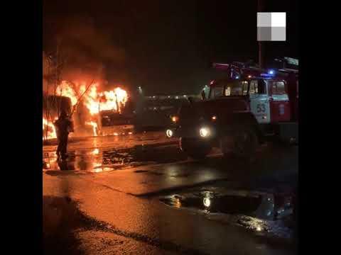 Два автобуса сгорели в Заволжье   NN.RU