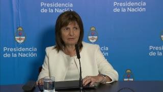 Declaraciones a la prensa de los ministros Rogelio Frigerio y Patricia Bullrich