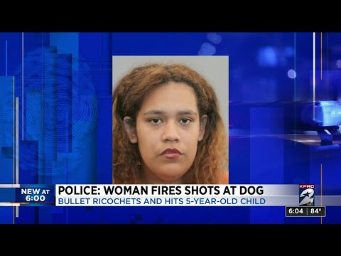 Police: Woman fires shots at dog but bullet ricochets and hits 5-year-old