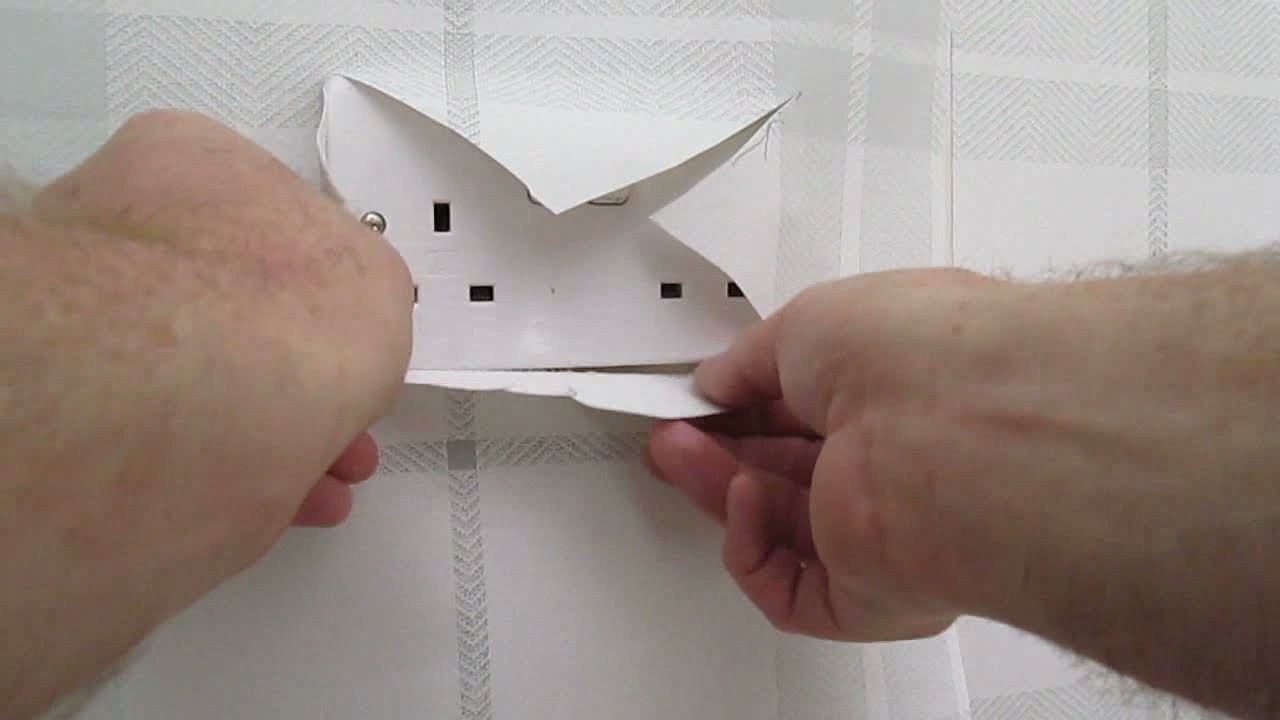 How To Wallpaper Around A Light Switch Or Wall Socket Nice