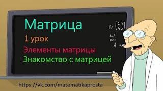 Матрица. Что такое матрица. Элементы матрицы. (Матричный шварц 1) матрицы математика
