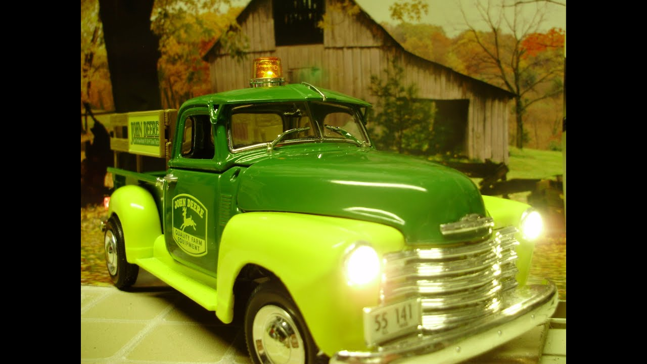 Custom 1950 Chevy John Deere Pick Up Truck With Working