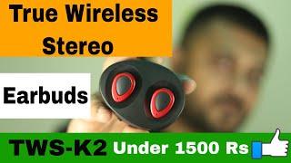 cheap bluetooth Earphones 2018  TWS-K2  Wireless  Unboxing/Review  Amazon.com  Hindi
