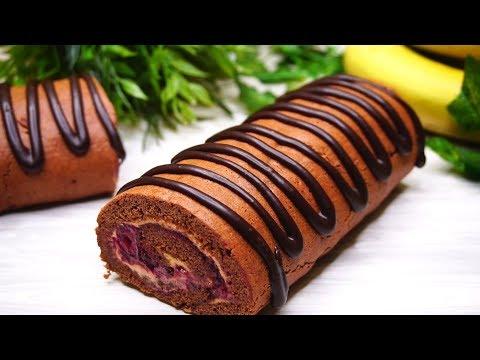 Простой рецепт Быстрого Шоколадного рулета