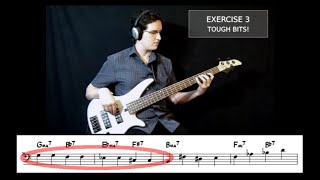"Walking Jazz Standards #6: ""Giant Steps"" - Bass Guitar Lesson"