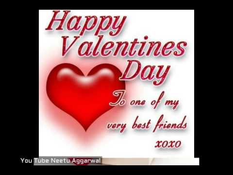 Valentine greetings to friends
