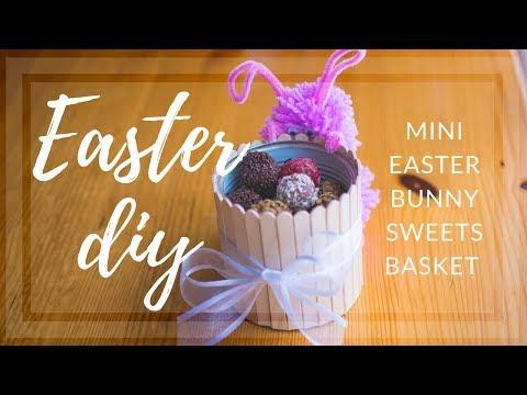 DIY - Mini Easter Bunny Sweets Basket | Easter Room Decor Tutorial | J.M.
