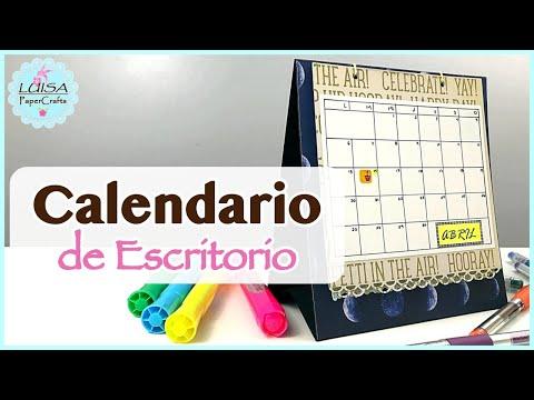 Cómo Hacer Un Calendario De Escritorio 2020 | Ft. Beebeecraft | Luisa PaperCrafts