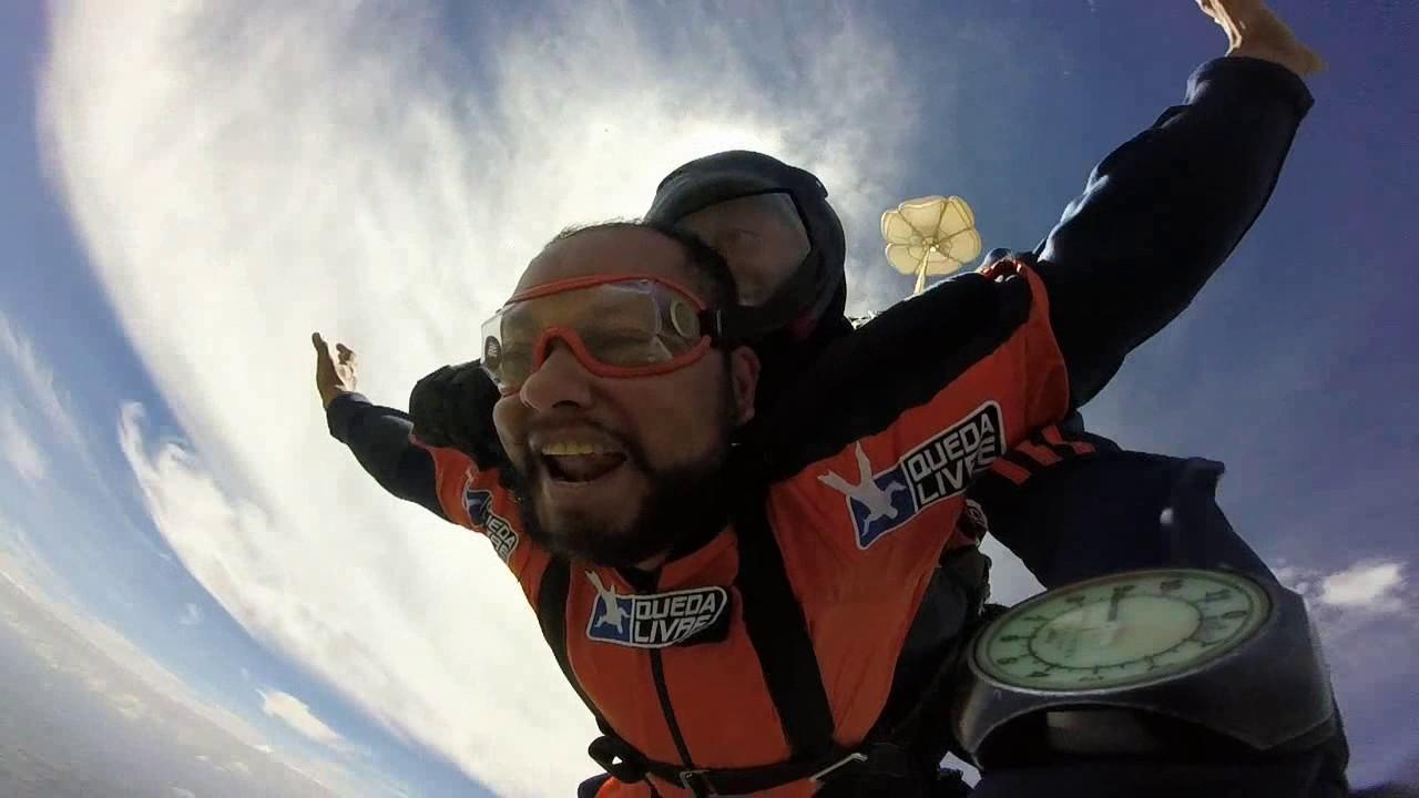 Salto de Paraquedas do Fernando S na Queda Livre Paraquedismo 29 01 2017