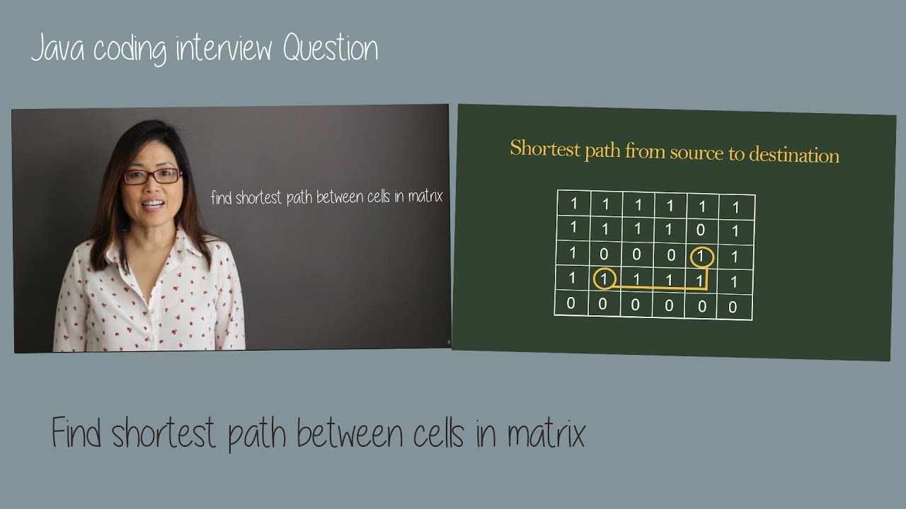 Java coding interview question - find shortest path between cells in matrix