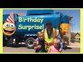 Boy's Trash Can Birthday Surprise | Garbage Truck Video