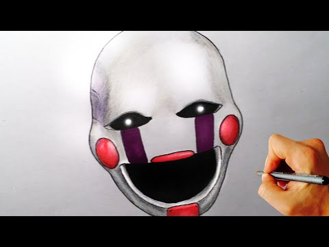 How To Draw Marionette, Puppet From Five Nights At Freddy's FNAF Drawing Lesson