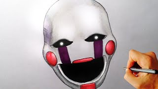 How to draw Marionette, Puppet from Five Nights at Freddy