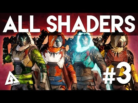 Destiny All Shaders Part 3 - Glowhoo, God of War, Crypographic and More!
