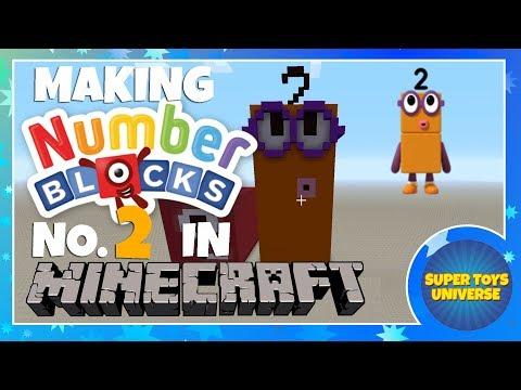 Making NUMBERBLOCKS Number Block Number 2 in MINECRAFT - Cbeebies