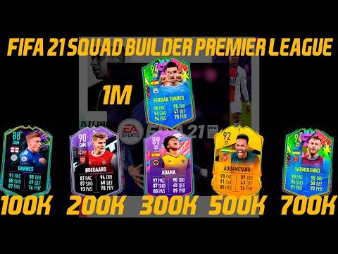 FIFA 21 BEST PREMIER LEAGUE TEAMS! FIFA 21 100K 200K 300K 500K 700K 1M SQUAD BUILDER WITH AI! #26