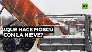 Así gestiona Moscú el exceso de nieve