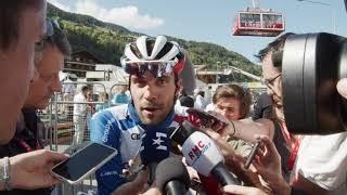 Thibaut Pinot - Interview d'arrivée - 8e étape - Critérium du Dauphiné 2019